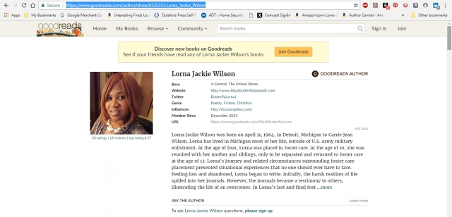 Goodreads Author Profile Screenshot